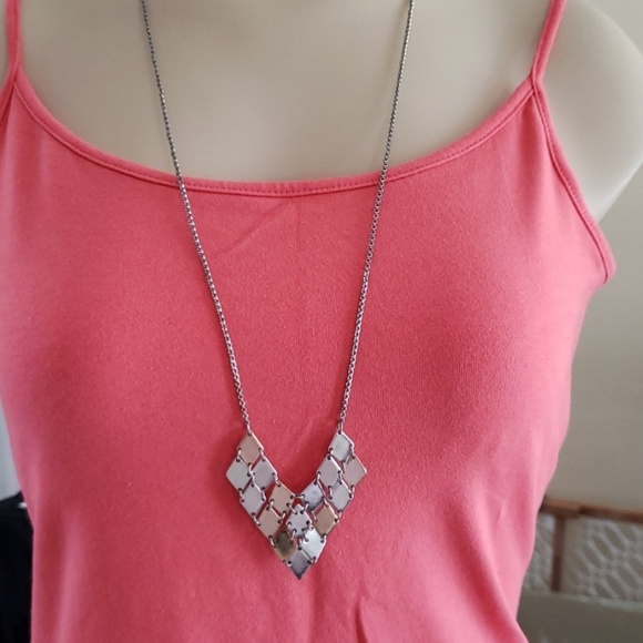 American Eagle Outfitters Jewelry - American Eagle Two tone Long Chevron Necklace